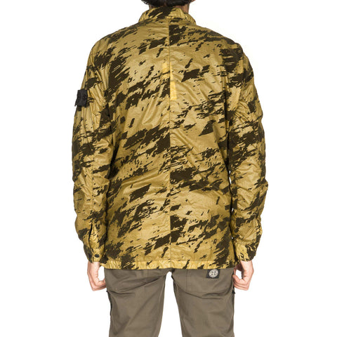 stone island shadow project Lucid Flock Garment Dyed Shirt Jacket militaire
