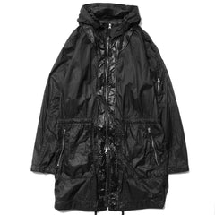 Stone Island Shadow Project Lucid Ultralight Polyamide Garment Dyed Hooded Long Coat