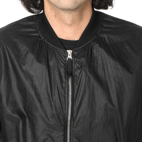 Stone Island Shadow Project Lucid Ultralight Polyamide Garment Dyed Bomber Jacket Black