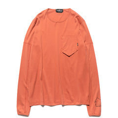 Stone Island Shadow Project Mako Cotton Jersey Garment Dyed LS T-Shirt Brick