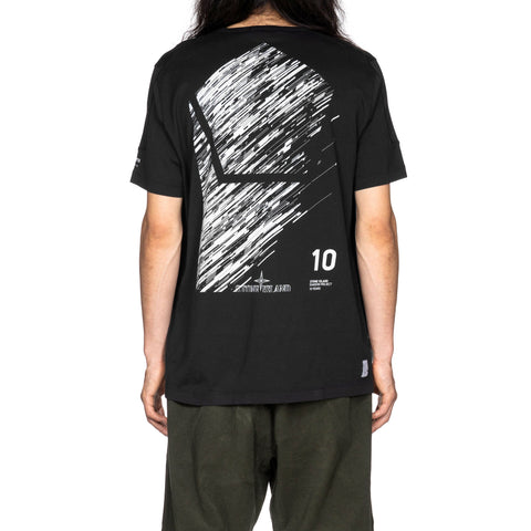 stone island shadow project Mako Cotton Jersey Garment Dyed T-Shirt Black