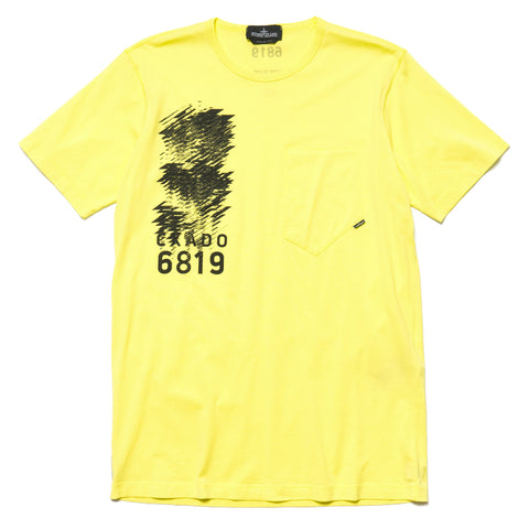stone island shadow project Mako Jersey Garment Dyed T Shirt Limone