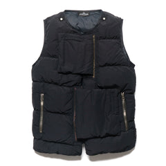 stone island shadow project Naslan Light Garment Dyed Real Down Vest Black