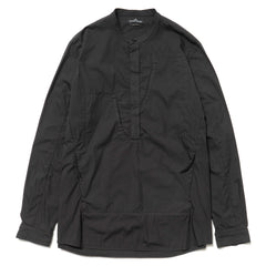 Stone Island Shadow Project Nyco Cotton Nylon Garment Dyed L/S Shirt Black