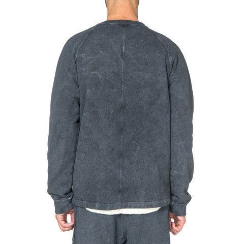 Stone Island Shadow Project Pullover Sweater with Side Pockets Anthracite