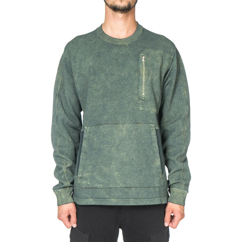 Stone Island Shadow Project Pullover Sweater with Side Pockets Verde