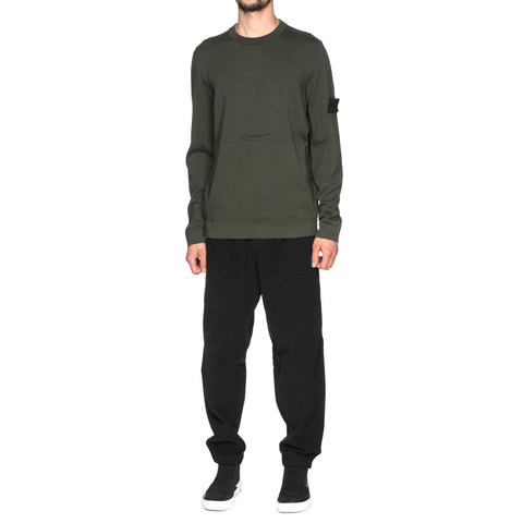 stone island shadow project Pure Cotton Stocking Stitch Knit Crewneck Musk