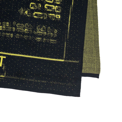 Stone Island Shadow Project Scarf Pure Wool Jacquard Graphic Motif Navy x Yellow