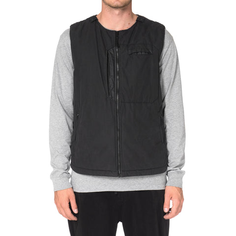 Stone Island Shadow Project Tela Fili 2L Garment Dyed Anti Drop Agent Vest Gray