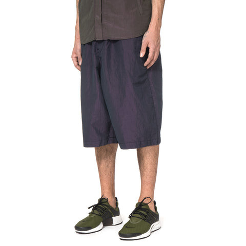Stone Island Shadow Project Tonic Cotton Garment Dyed Bermuda Sweat Shorts Navy