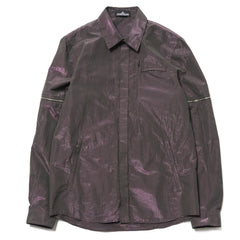 Stone Island Shadow Project Tonic Cotton Garment Dyed Zip Sleeve Shirt Musk