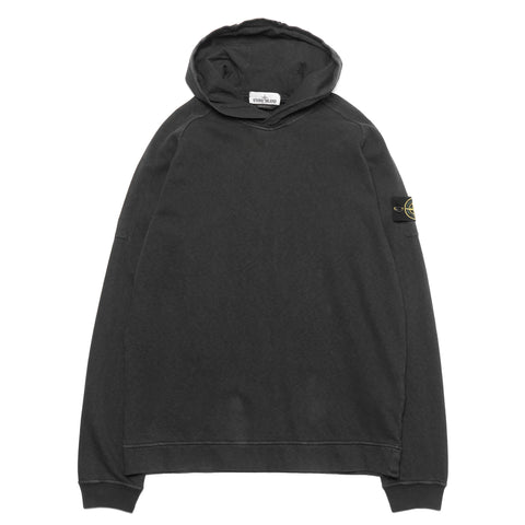 stone island Slub Effect Fleece Garment Dyed Old Effect Pullover Hooded Sweat-Shirt Antracite