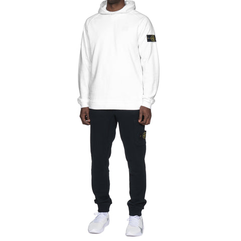 stone island Slub Effect Fleece Garment Dyed Old Effect Pullover Hooded Sweat-Shirt White