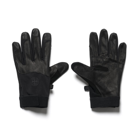 Stone Island Soft Shell R-Gloves Black