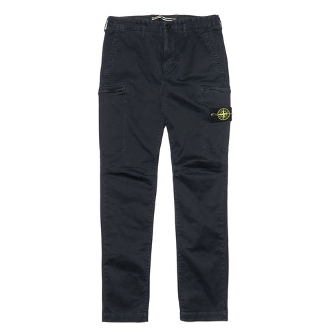stone island Stretch Broken Twill Cotton Garment Dyed Old Effect Pants Blue
