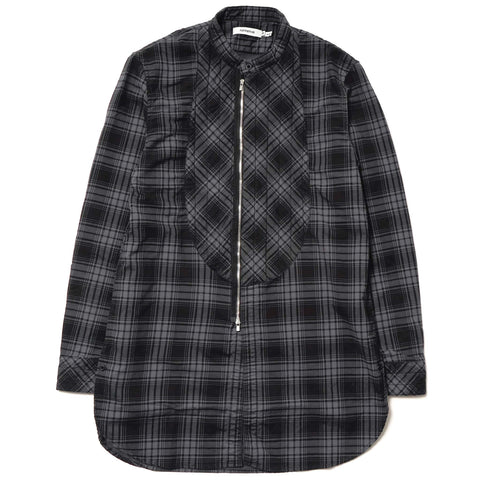 Stroller Quilted Long Shirt - C/P Mini Plaid Check Overdyed