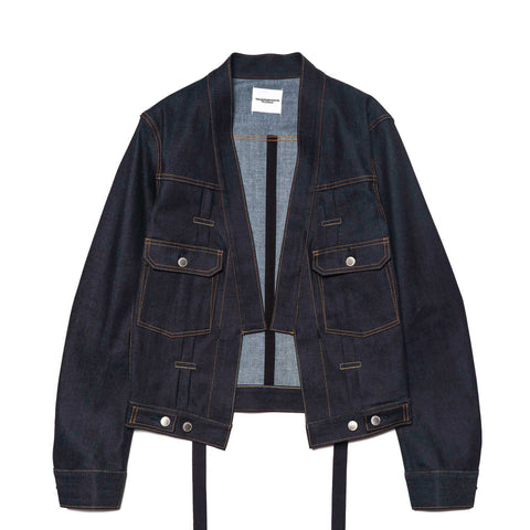 takahiromiyashita the soloist. haori denim jacket indigo