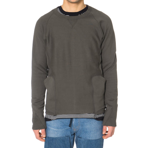 TAKAHIROMIYASHITA The Soloist 2-pocket Crew Neck Sweat Shirt Aluminum