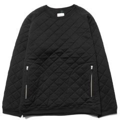 TAKAHIROMIYASHITA The SoloIst. Oversized Quilted Crewneck With Zipper Pockets Black