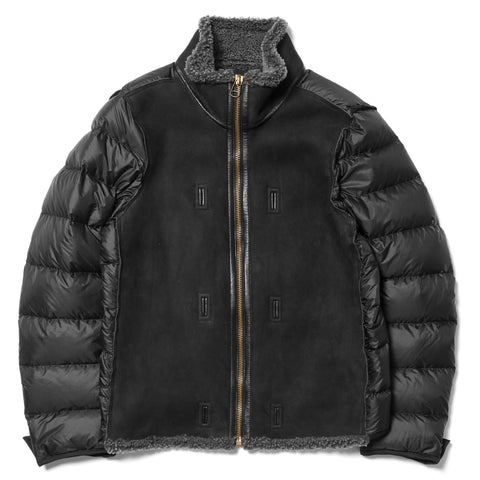 Ten C Shearling Liner Dark Gray