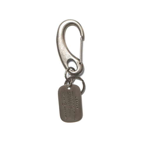 Uniform Experiment Dog Tag Key Ring Silver