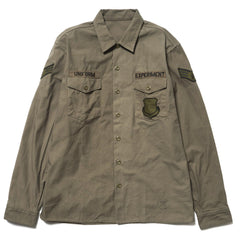 Uniform Experiment Back Logo Utility Shirt Khaki