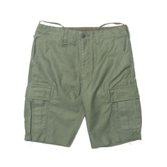 Uniform Experiment Denim Pocket Cut Off Cargo Shorts Khaki