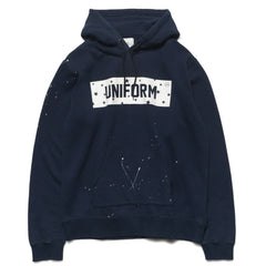 uniform experiment Drip Star Box Logo Pull Over Parka Navy