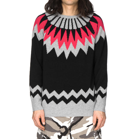 uniform experiment Geometric Crew Neck Knit