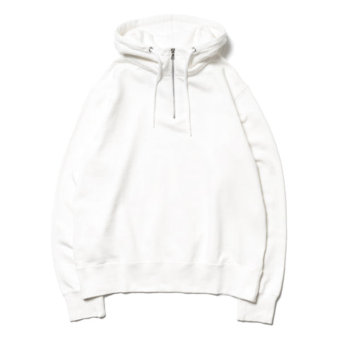 Uniform Experiment Half Zip Sweat Parka White