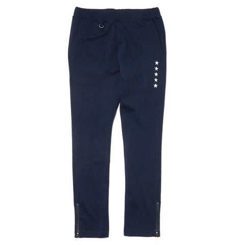 Uniform Experiment Hem Zip Easy Pant Navy