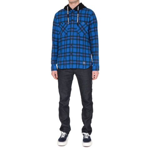 Uniform Experiment Hooded Wrinkled Check Shirt