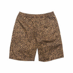 Leopard Easy Shorts Beige