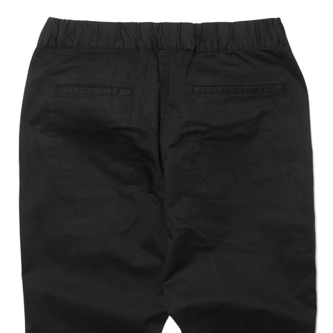 Uniform Experiment Stretch Chino Ribbed Easy Pant Black