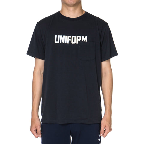 Uniform Experiment Star Numbering Pocket Tee Navy