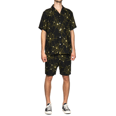wacko maria Atomic Spider S/S Hawaiian Shirt Black