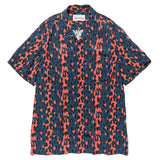 Leopard S/S Hawaiian Shirt (Type-1) Blue/Red