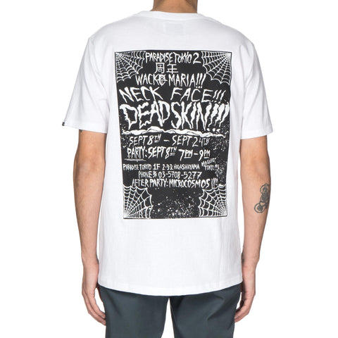 x Neck Face U.S.A Body Crew Neck T-Shirt White