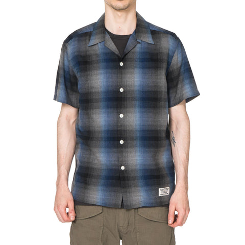 WACKO MARIA Rayon Ombre Check Open Collared Shirt S/S (Type-2)