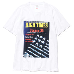 wacko maria x High Times Washed Heavy Weight Crew Neck T-Shirt (Type-3) White