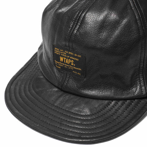A-3 02 / Cap. Leather. Cow Black