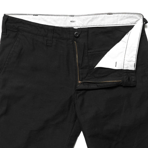 wtaps Buds. Skinny / Trousers. Cotton. Satin Black