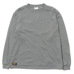 Blank LS / Tee. Cotton. Loopwheel Dark Gray