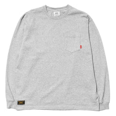 WTAPS Blank LS / Tee. Cotton. Loopwheel Gray