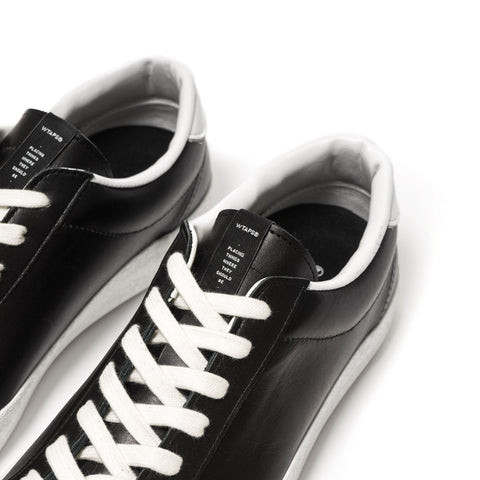 WTAPS Court Low / Shoes. Leather Cow Black