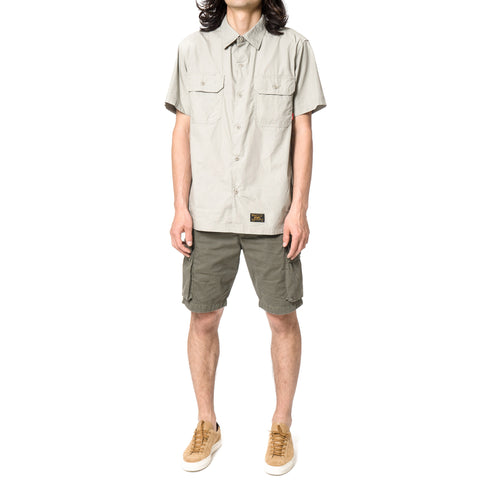 WTAPS Deck SS / Shirt. Cotton. Broad Cloth Gray