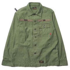 WTAPS HBT LS / Shirt. Cotton. Satin Olive