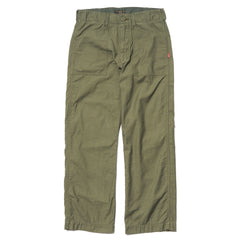 WTAPS HBT / Trousers. Cotton. Satin Olive Drab