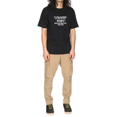 wtaps Home Sign T-Shirt / Knit black