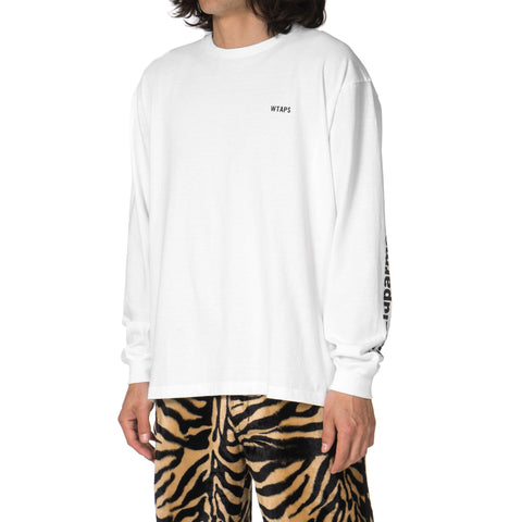 WTAPS Design LS : GPS / Tee. Cotton. Loopwheel White